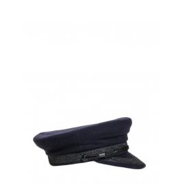 Casquette de marin en feutre de laine mélangé bleu marine Taille 56