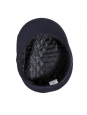 Navy blue wool felt Breton yachting cap Size 57