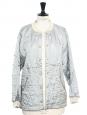 Veste matelassée Teddy gris bleuté Prix boutique 1300€ Taille 38