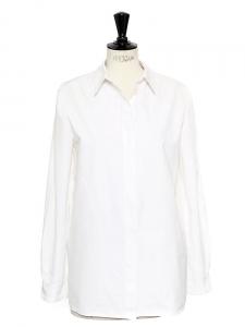 White cotton long sleeved shirt Retail price €450 Size M