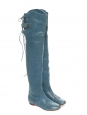 CROSTA Blue over-the-knee flat boots Retail price €1200 Size 36