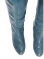 Bottes cuissardes CROSTA en cuir bleu Px boutique 1200€ Taille 36