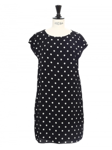 Black and white polka dot mini dress Retail price €1550 Size M