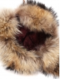 Brown and beige fur chapka hat Size S / 56