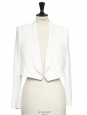 Ivory white crepe blazer jacket NEW Retail price €1000 Size S