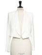 Veste blazer court en crêpe blanc ivoire NEUVE Prix boutique 1000€ Taille 36