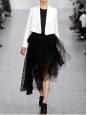 Veste blazer court en crêpe blanc ivoire NEUVE Px boutique 1000€ Taille 36