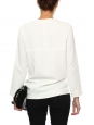 White crepe top with silver zip Retail price €500 Size XS/S