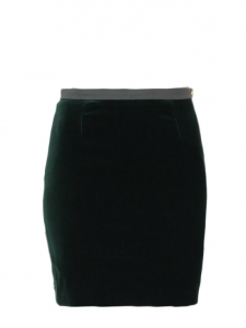 Imperial green velvet skirt Retail price €700 Size XS