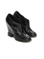 Black patent leather wedge ankle boots Retail price €600 Size 39
