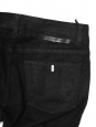 Black cotton slim fit denim pants with zipped ankles Retail price €225 Size 36