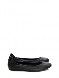 Black leather ballet flats NEW Retail price €325 Size 38