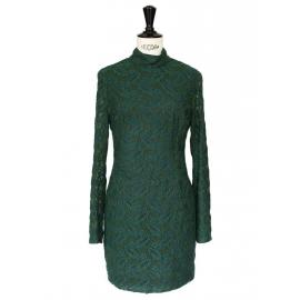 Green HARLEM DUCHESS embroidered dress Retail price €435 Size XS