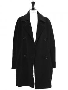 Black pure new wool pea coat Retail price €1100 Size M