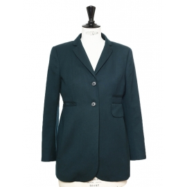 Dark green wool blazer jacket Retail price €450 Size 36