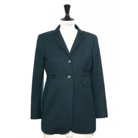 Veste blazer en laine vert foncé Prix boutique 450€ Taille 36