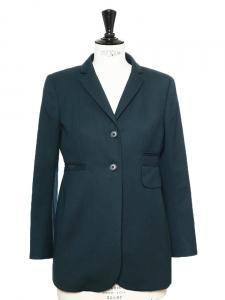 Veste blazer en laine bleu canard Prix boutique 450€ Taille 36