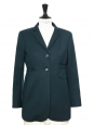 Blue green wool blazer jacket Retail price €450 Size 36