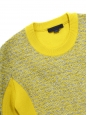 Yellow and light grey knitted round neck sweater Retail price €480 Size M