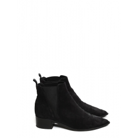 JENSEN Black suede leather Chelsea ankle boots Retail price €450 Size 37.5