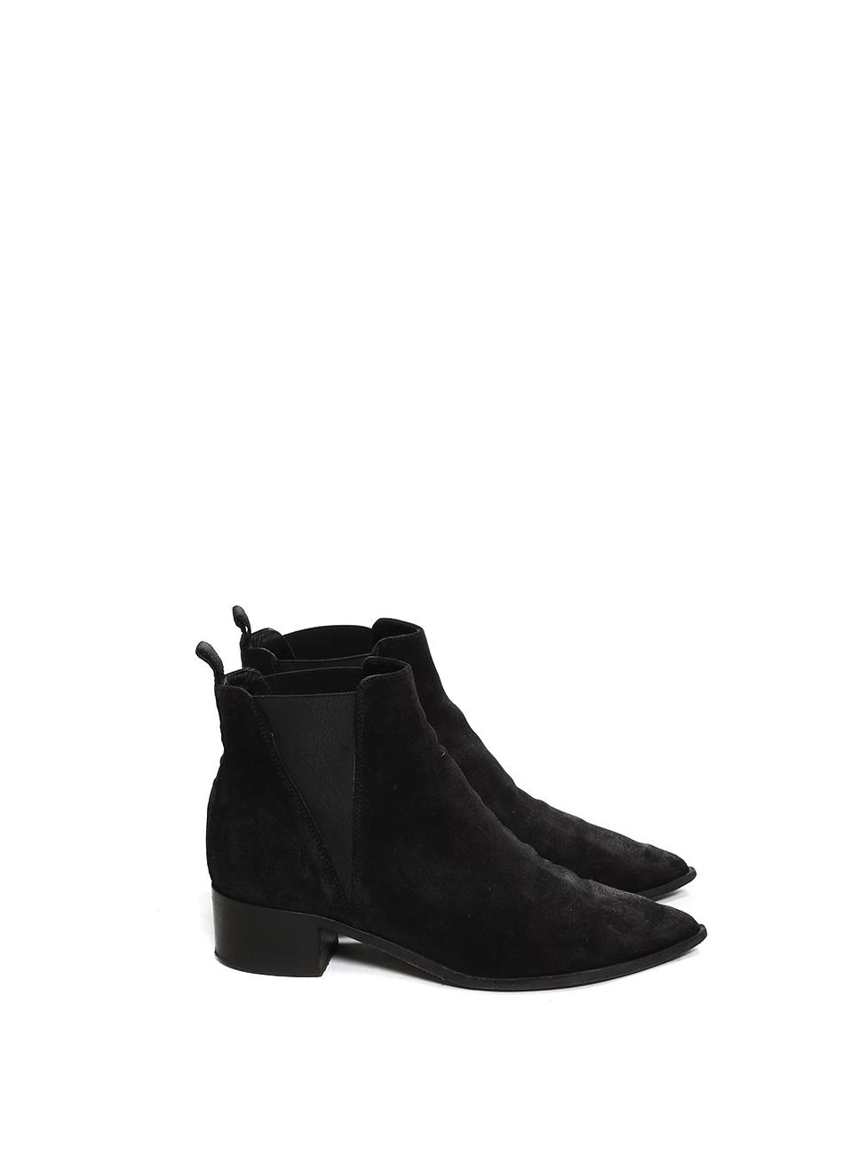 7c17f85d795 Louise Paris - ACNE STUDIOS JENSEN Black suede leather Chelsea ankle ...