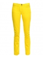 Sunshine yellow stretch cotton slim fit low waist denim jeans Retail price €280 Size XS