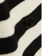 Black and white silk, cashmere and wool turtleneck sweater Retail price €695 Size XS