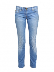Slim fit medium blue denim pants Retail price €570 Size XS