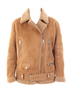 Camel beige VELOCITE shearling jacket NEW Retail price €2300 Size S