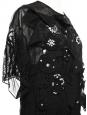 Robe en mousseline de soie noire, crochet et strass Prix boutique 5000€ Taille 34