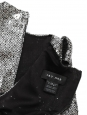 Metallic silver sequin embroidered Cocktail dress Retail price €1800 Size S