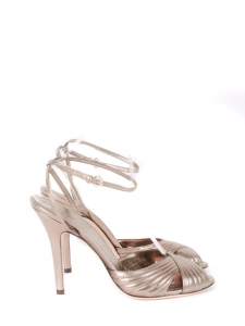 f124a85ba484 GUCCI · Light copper leather heel sandals with ankle strap NEW Retail price  €500 Size 39