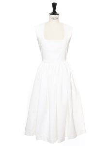 REGAN White stretch-crepe dress NEW Retail price €1130 Size XS