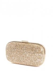 MARANO Gold glitter-finished box clutch Retail price €550