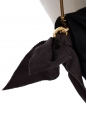 Sac du soir en satin de soie noire brodé de strass et chaîne dorée Prix boutique 1500€