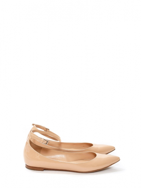 Gianvito Rossi Woman Patent-leather Ballet Flats Pastel Pink Size 36 Gianvito Rossi rtGMvhLr