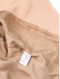 Pink beige cotton blend double breasted jacket Retail price €1200 Size 36