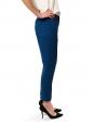 Sapphire blue crepe de chine slim fit pants NEW Retail price €480 Size 38