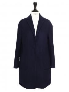 Manteau veste en laine vierge et cachemire bleu marine Prix boutique 950€ Taille XS