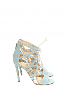 BOOMERANG Sky blue denim stiletto sandals NEW Retail price €1180 Size 37