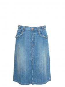 Jupe en jean détail tressé NEUVE Prix boutique 250€ Taille 36