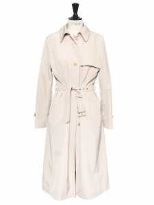 Sand beige gabardine trench coat Retail price €550 Size 36