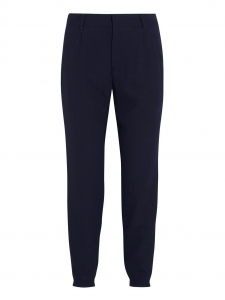 MEGEVE Black blue woven tapered pants Retail price €265 Size XS