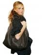 Dark brown distressed caviar leather COCO Cabas XL bag Retail price €2000