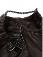 Dark brown distressed caviar leather COCO Cabas XL bag Retail price €2000
