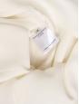 Blouse décolleté V manches longues en soie blanc ivoire Px boutique 500€ Taille 34