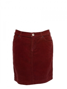 Burgundy red corduroy skirt NEW Size S
