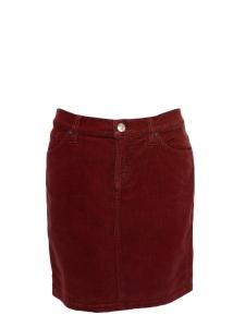 Jupe en velours côtelé rouge bordeaux NEUVE Taille 36