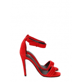 High heel red suede ankle strap sandals NEW Retail price €610 Size 37