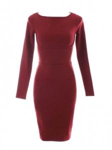 Robe manches longues stretch bordeaux Prix boutique 650€ Taille XS